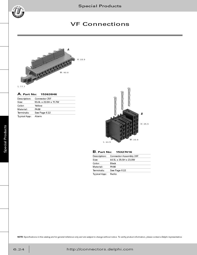 12014254 ,Delphi Connection Systems厂商,Automotive Connectors HAND CRIMPER, 12014254 datasheet预览  第306页