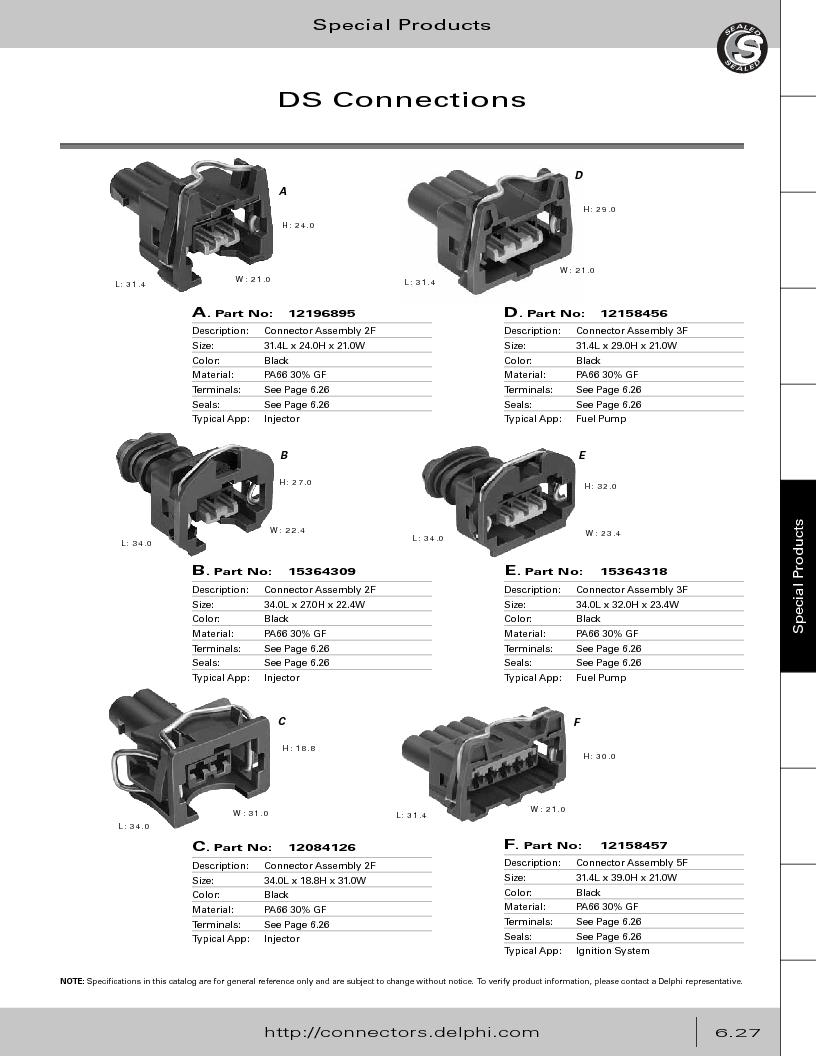 12014254 ,Delphi Connection Systems厂商,Automotive Connectors HAND CRIMPER, 12014254 datasheet预览  第309页