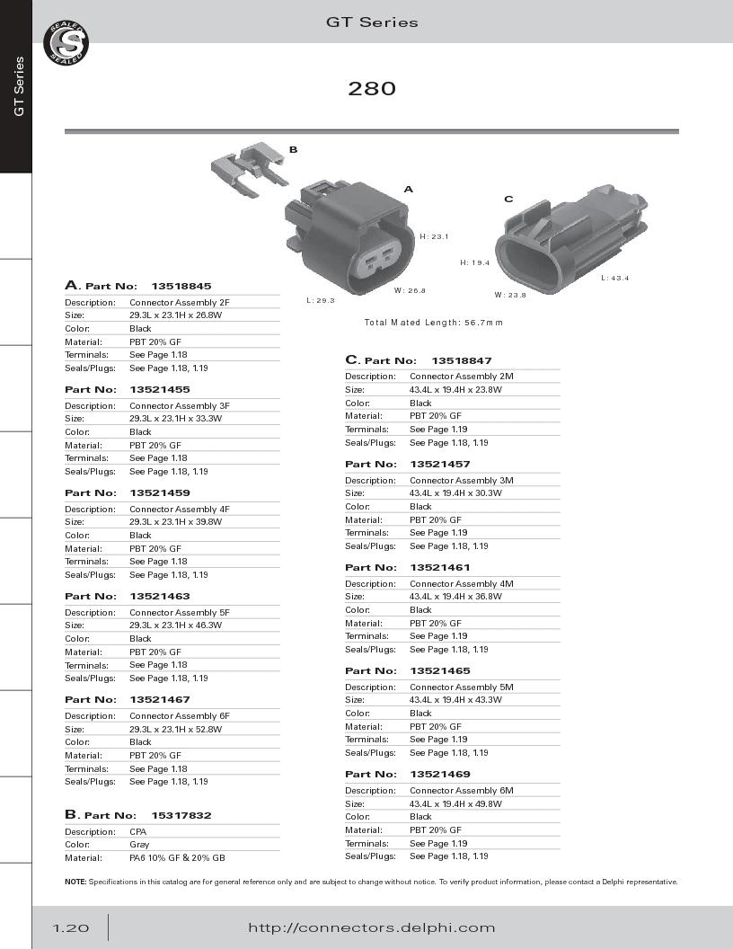 12014254 ,Delphi Connection Systems厂商,Automotive Connectors HAND CRIMPER, 12014254 datasheet预览  第32页