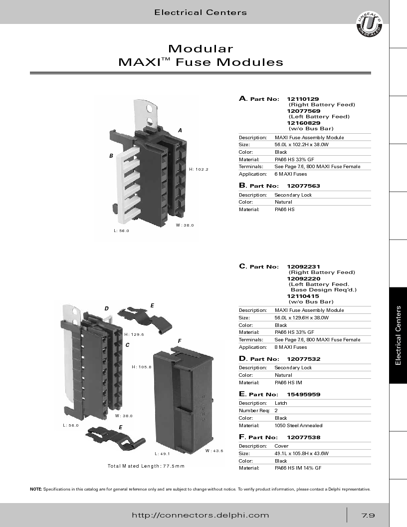 12014254 ,Delphi Connection Systems厂商,Automotive Connectors HAND CRIMPER, 12014254 datasheet预览  第319页