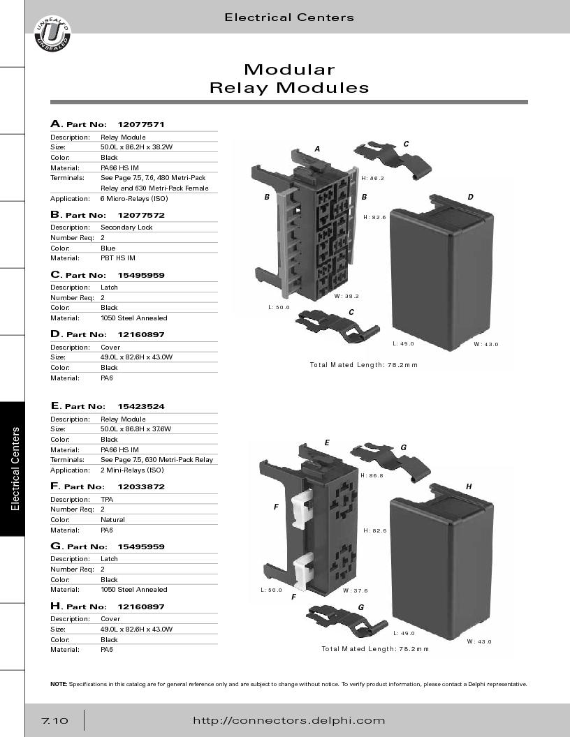 12014254 ,Delphi Connection Systems厂商,Automotive Connectors HAND CRIMPER, 12014254 datasheet预览  第320页