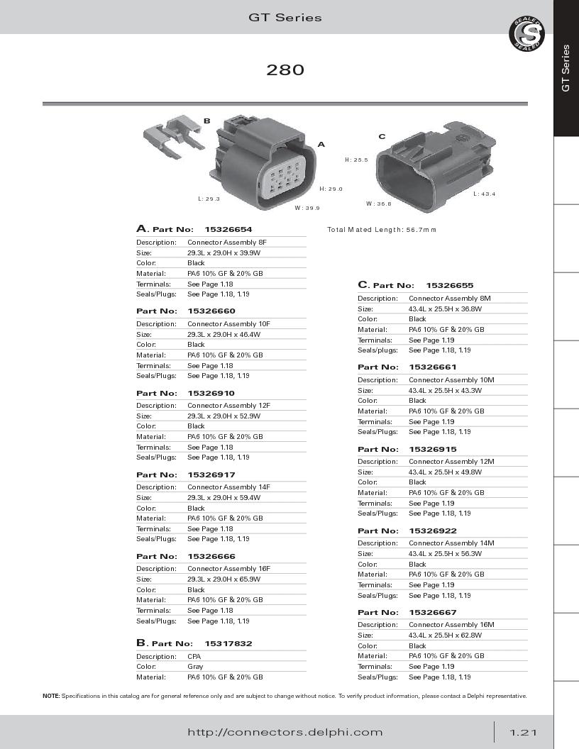 12014254 ,Delphi Connection Systems厂商,Automotive Connectors HAND CRIMPER, 12014254 datasheet预览  第33页
