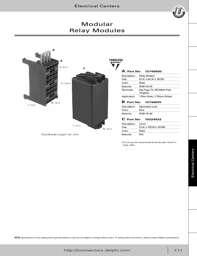 12014254 ,Delphi Connection Systems厂商,Automotive Connectors HAND CRIMPER, 12014254 datasheet预览  第321页