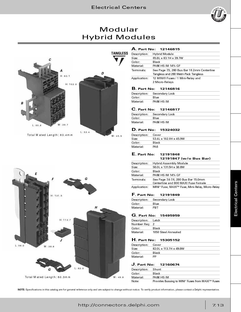 12014254 ,Delphi Connection Systems厂商,Automotive Connectors HAND CRIMPER, 12014254 datasheet预览  第323页