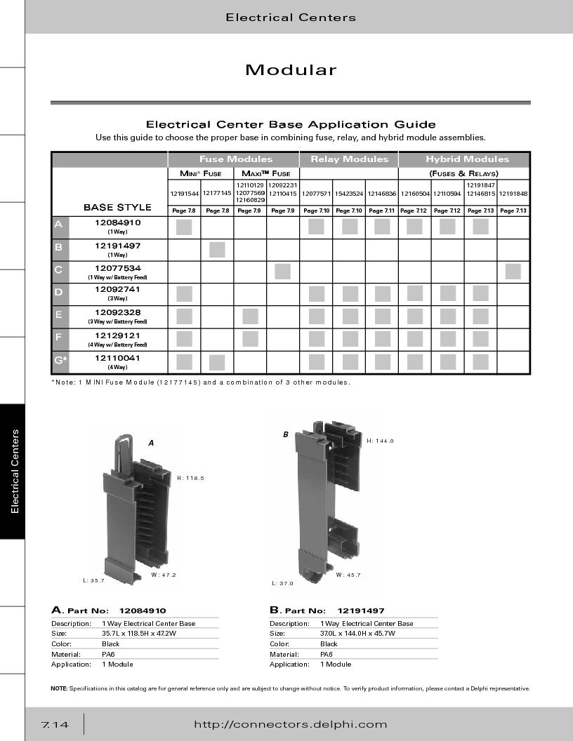12014254 ,Delphi Connection Systems厂商,Automotive Connectors HAND CRIMPER, 12014254 datasheet预览  第324页