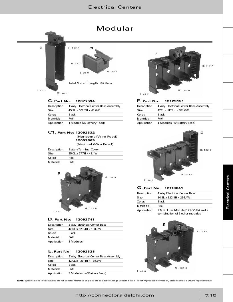12014254 ,Delphi Connection Systems厂商,Automotive Connectors HAND CRIMPER, 12014254 datasheet预览  第325页