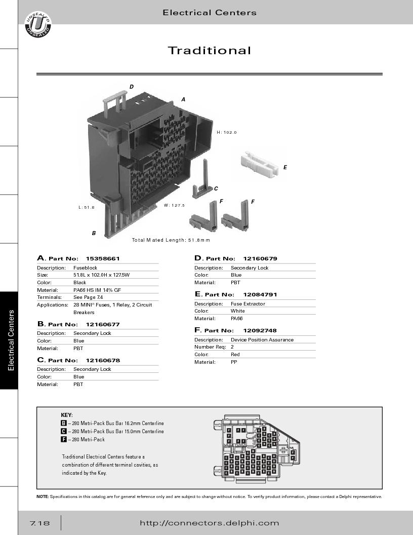 12014254 ,Delphi Connection Systems厂商,Automotive Connectors HAND CRIMPER, 12014254 datasheet预览  第328页