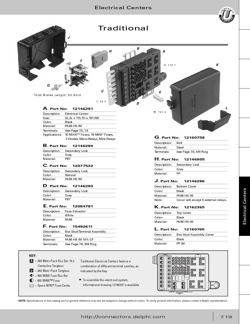 12014254 ,Delphi Connection Systems厂商,Automotive Connectors HAND CRIMPER, 12014254 datasheet预览  第329页