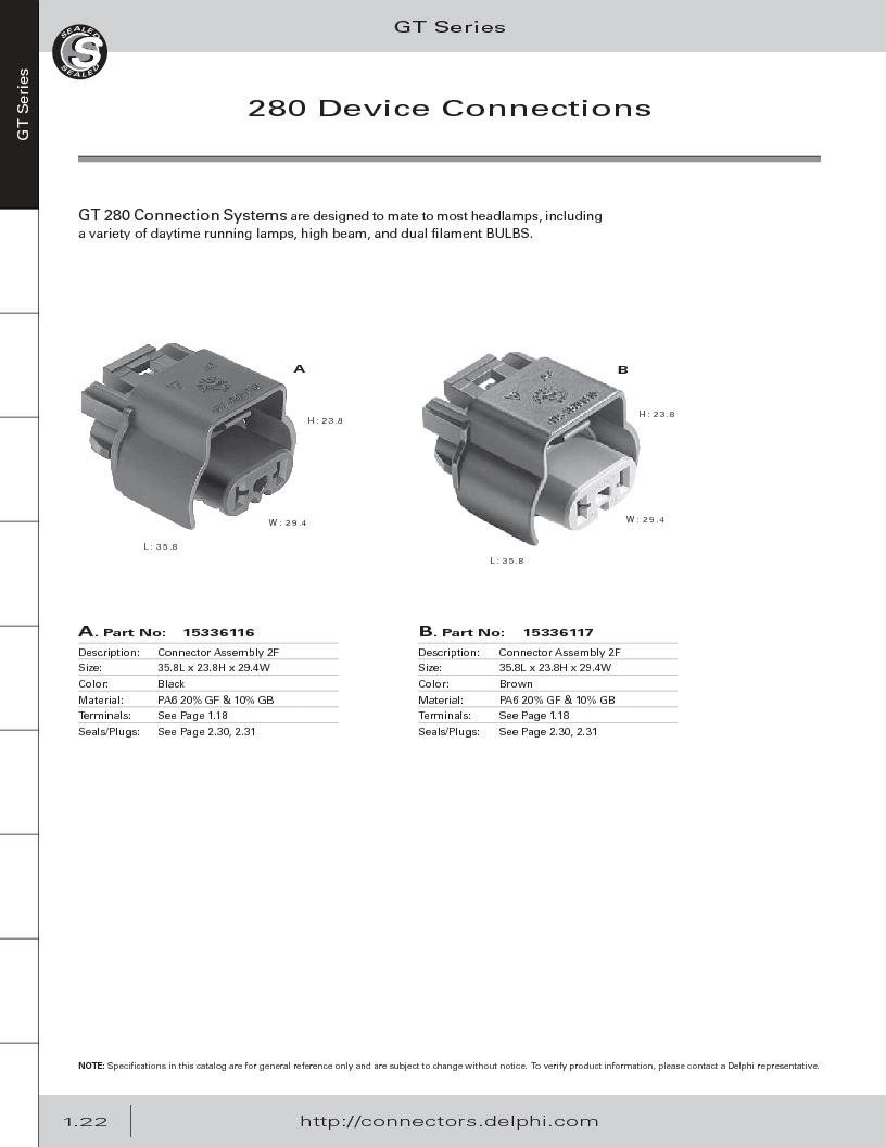 12014254 ,Delphi Connection Systems厂商,Automotive Connectors HAND CRIMPER, 12014254 datasheet预览  第34页