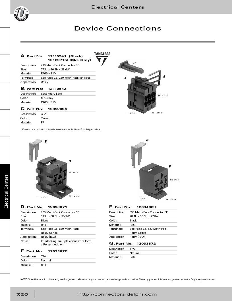 12014254 ,Delphi Connection Systems厂商,Automotive Connectors HAND CRIMPER, 12014254 datasheet预览  第336页