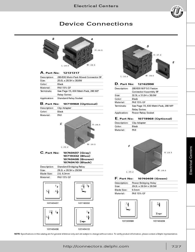 12014254 ,Delphi Connection Systems厂商,Automotive Connectors HAND CRIMPER, 12014254 datasheet预览  第337页