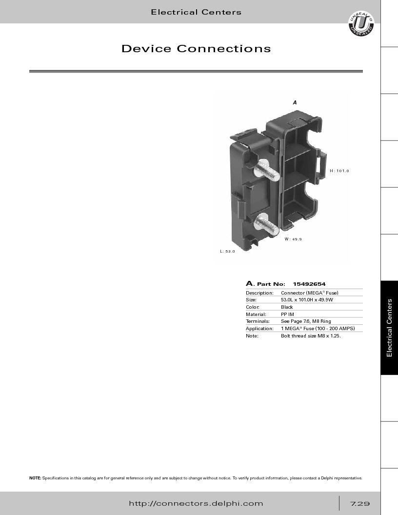 12014254 ,Delphi Connection Systems厂商,Automotive Connectors HAND CRIMPER, 12014254 datasheet预览  第339页