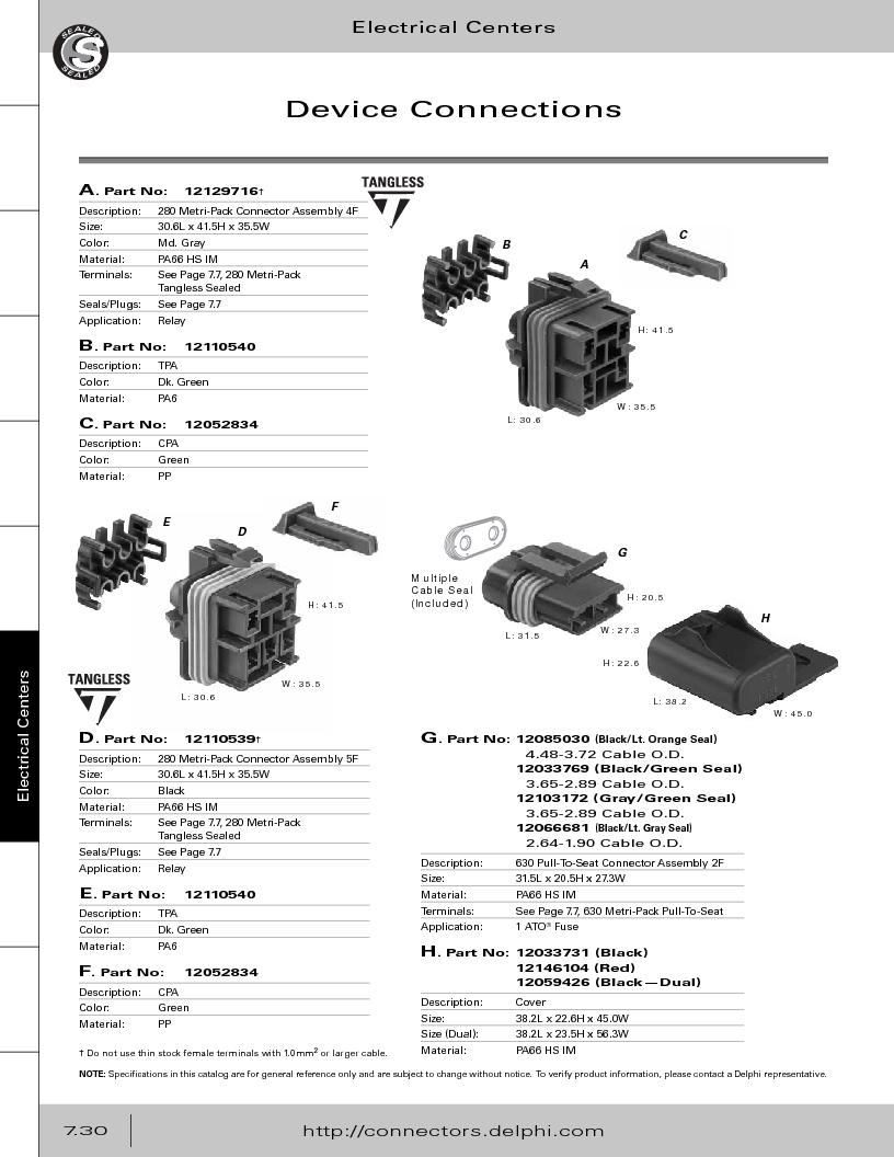 12014254 ,Delphi Connection Systems厂商,Automotive Connectors HAND CRIMPER, 12014254 datasheet预览  第340页