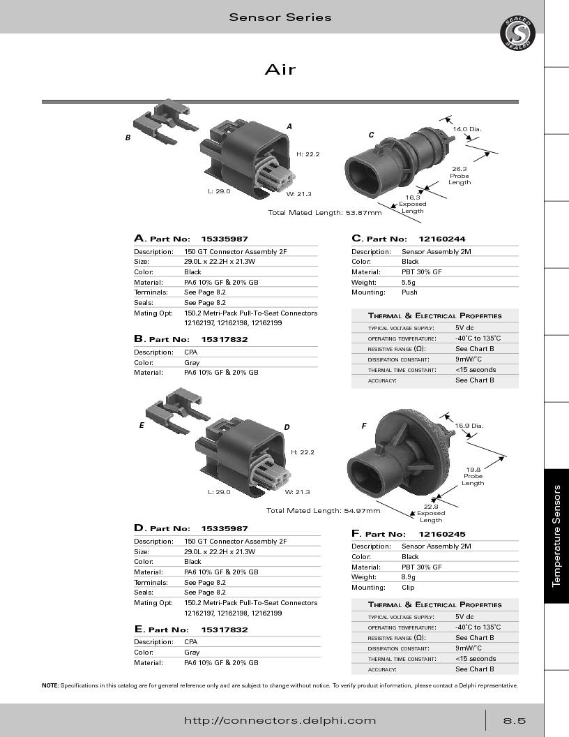12014254 ,Delphi Connection Systems厂商,Automotive Connectors HAND CRIMPER, 12014254 datasheet预览  第347页