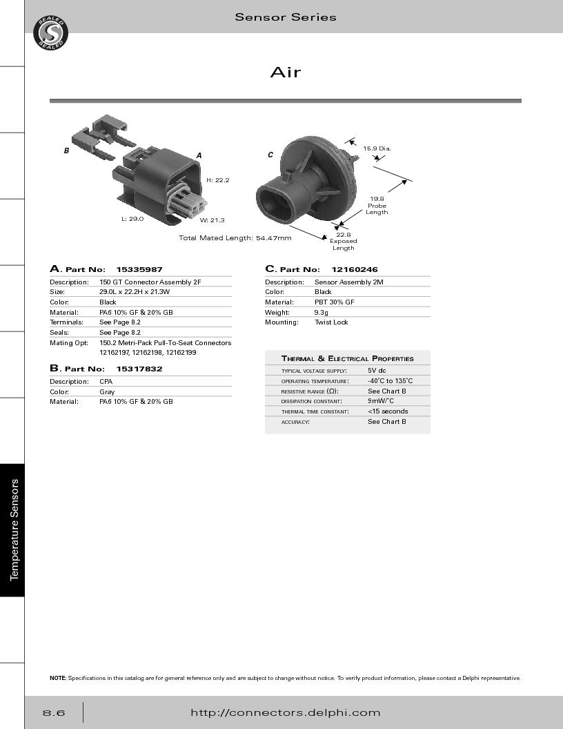 12014254 ,Delphi Connection Systems厂商,Automotive Connectors HAND CRIMPER, 12014254 datasheet预览  第348页
