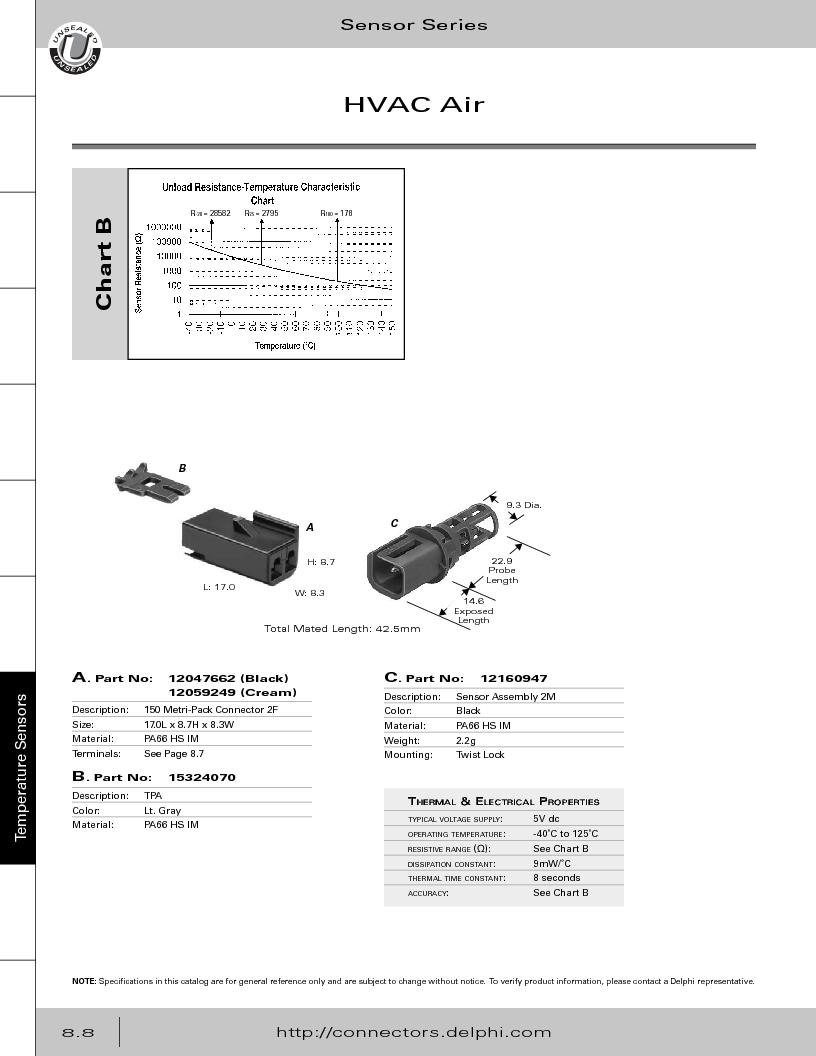 12014254 ,Delphi Connection Systems厂商,Automotive Connectors HAND CRIMPER, 12014254 datasheet预览  第350页