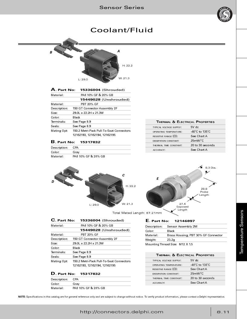 12014254 ,Delphi Connection Systems厂商,Automotive Connectors HAND CRIMPER, 12014254 datasheet预览  第353页