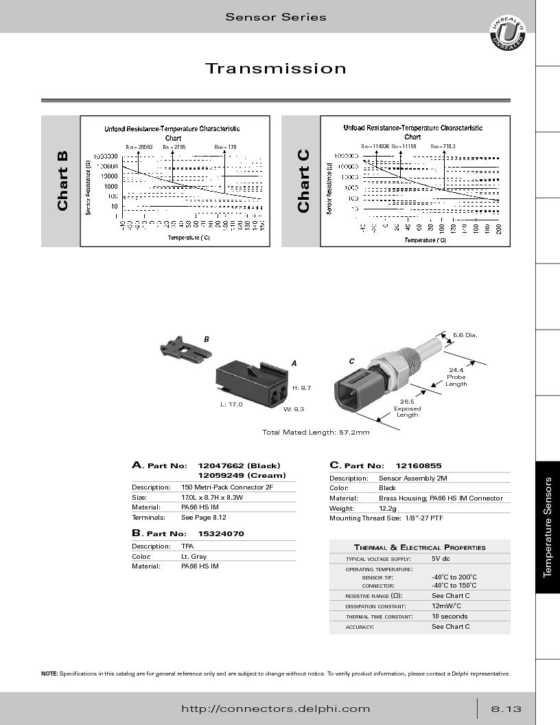 12014254 ,Delphi Connection Systems厂商,Automotive Connectors HAND CRIMPER, 12014254 datasheet预览  第355页