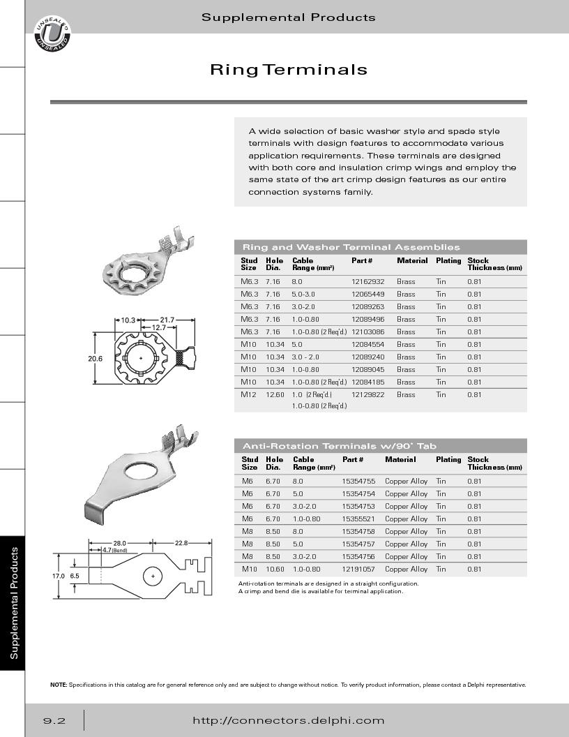 12014254 ,Delphi Connection Systems厂商,Automotive Connectors HAND CRIMPER, 12014254 datasheet预览  第358页