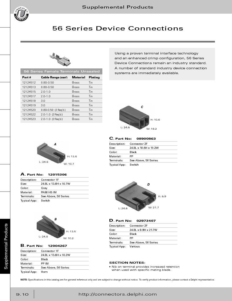 12014254 ,Delphi Connection Systems厂商,Automotive Connectors HAND CRIMPER, 12014254 datasheet预览  第366页