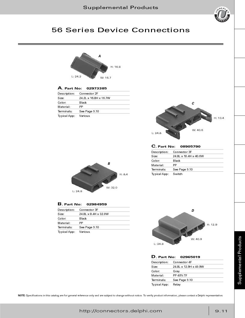 12014254 ,Delphi Connection Systems厂商,Automotive Connectors HAND CRIMPER, 12014254 datasheet预览  第367页