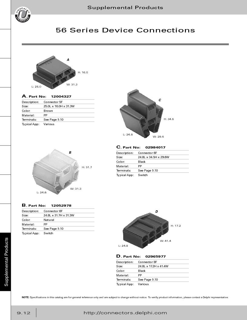 12014254 ,Delphi Connection Systems厂商,Automotive Connectors HAND CRIMPER, 12014254 datasheet预览  第368页