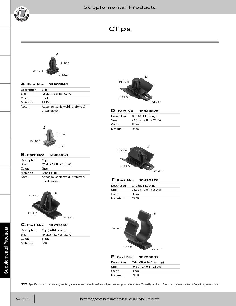 12014254 ,Delphi Connection Systems厂商,Automotive Connectors HAND CRIMPER, 12014254 datasheet预览  第370页