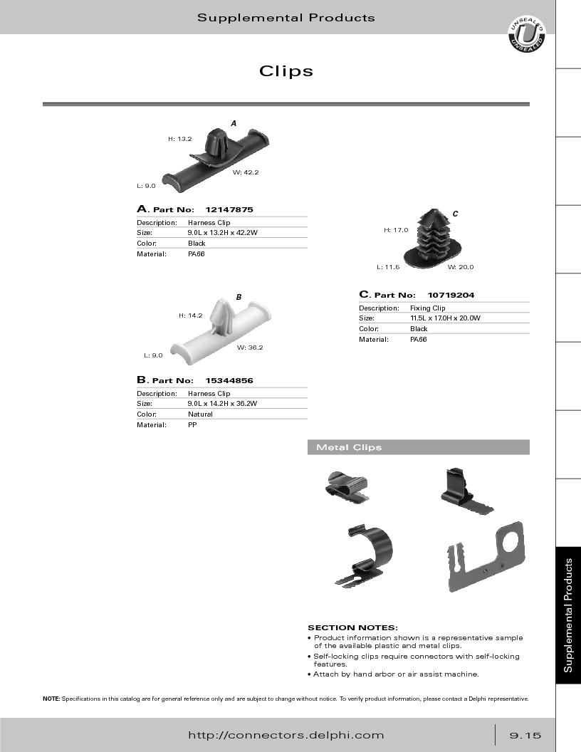 12014254 ,Delphi Connection Systems厂商,Automotive Connectors HAND CRIMPER, 12014254 datasheet预览  第371页