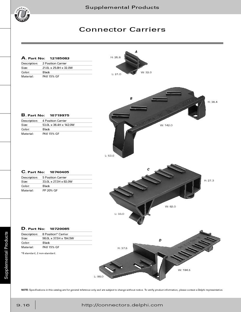 12014254 ,Delphi Connection Systems厂商,Automotive Connectors HAND CRIMPER, 12014254 datasheet预览  第372页