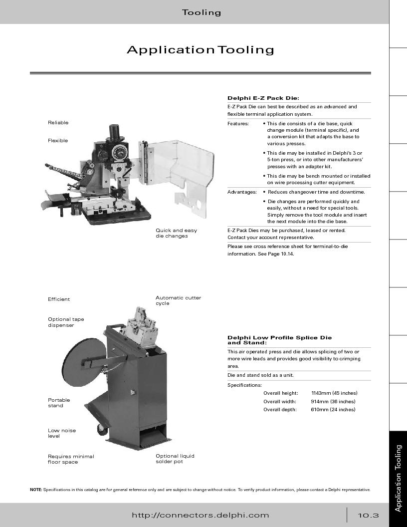 12014254 ,Delphi Connection Systems厂商,Automotive Connectors HAND CRIMPER, 12014254 datasheet预览  第375页