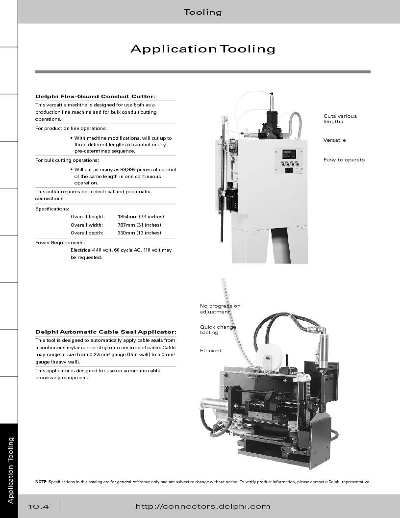 12014254 ,Delphi Connection Systems厂商,Automotive Connectors HAND CRIMPER, 12014254 datasheet预览  第376页