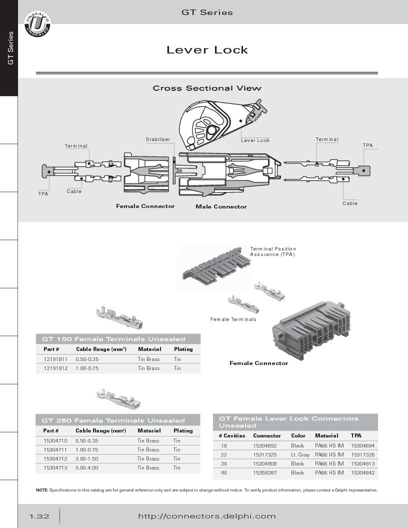 12014254 ,Delphi Connection Systems厂商,Automotive Connectors HAND CRIMPER, 12014254 datasheet预览  第44页