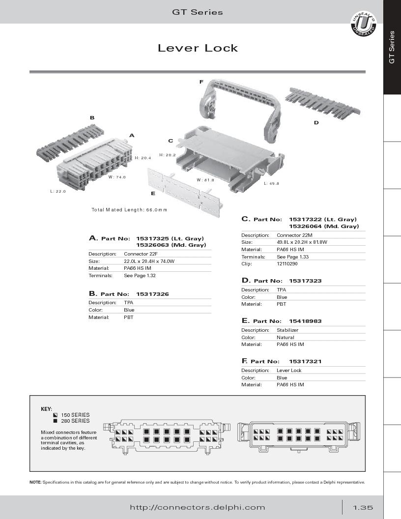12014254 ,Delphi Connection Systems厂商,Automotive Connectors HAND CRIMPER, 12014254 datasheet预览  第47页