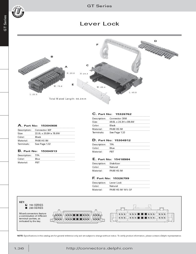 12014254 ,Delphi Connection Systems厂商,Automotive Connectors HAND CRIMPER, 12014254 datasheet预览  第48页