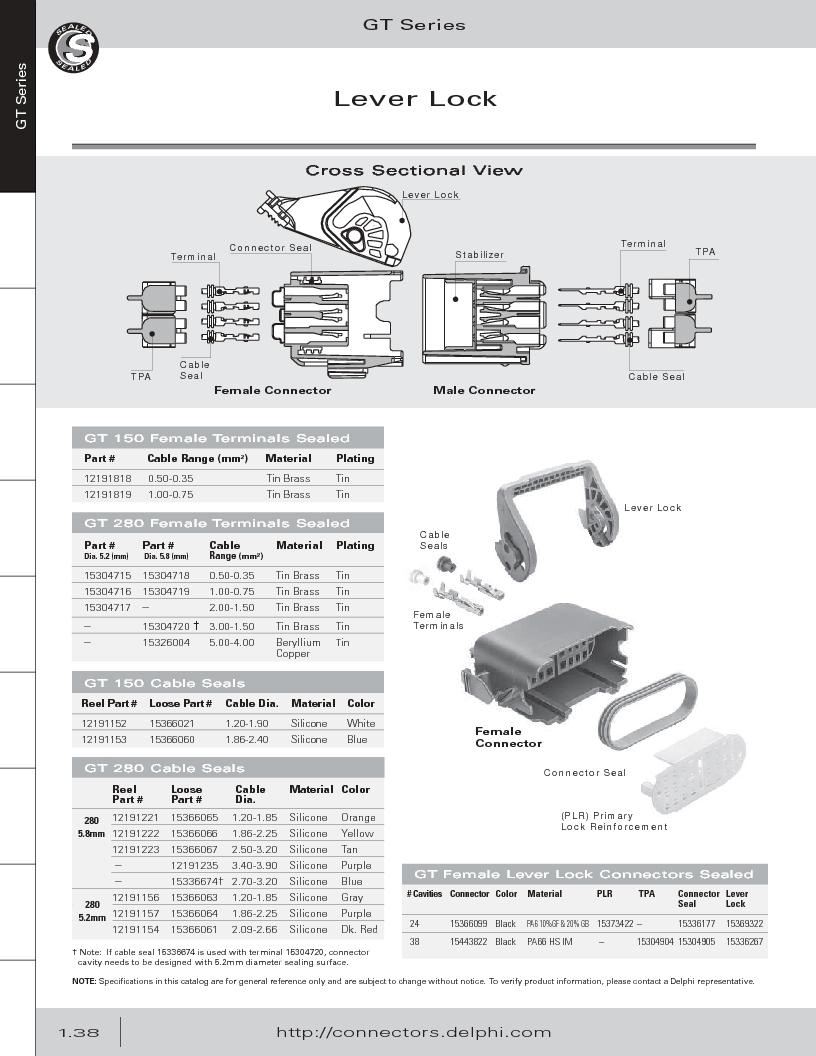 12014254 ,Delphi Connection Systems厂商,Automotive Connectors HAND CRIMPER, 12014254 datasheet预览  第50页