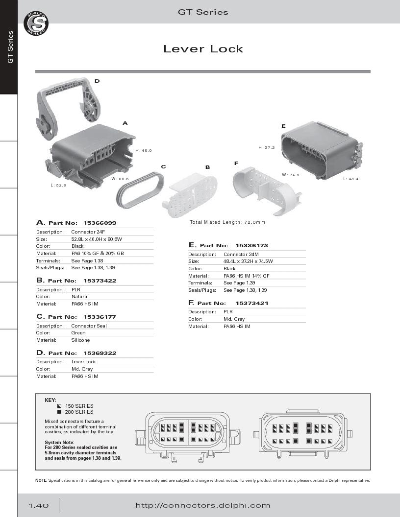 12014254 ,Delphi Connection Systems厂商,Automotive Connectors HAND CRIMPER, 12014254 datasheet预览  第52页