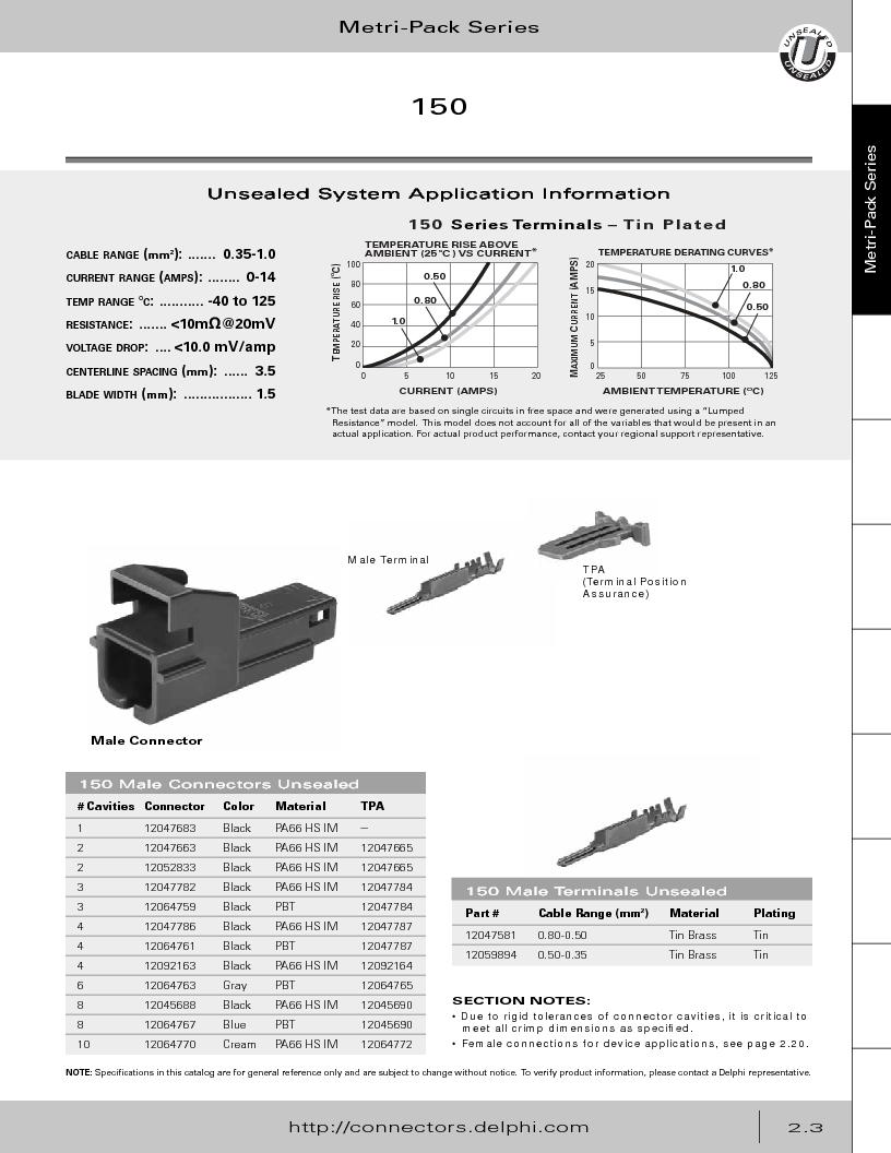12014254 ,Delphi Connection Systems厂商,Automotive Connectors HAND CRIMPER, 12014254 datasheet预览  第59页