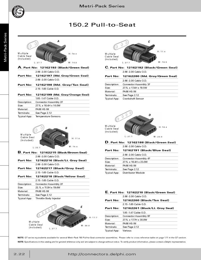 12014254 ,Delphi Connection Systems厂商,Automotive Connectors HAND CRIMPER, 12014254 datasheet预览  第78页