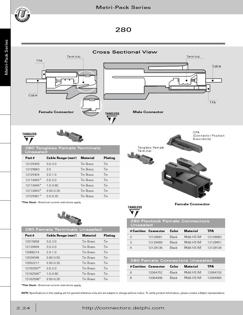 12014254 ,Delphi Connection Systems厂商,Automotive Connectors HAND CRIMPER, 12014254 datasheet预览  第80页