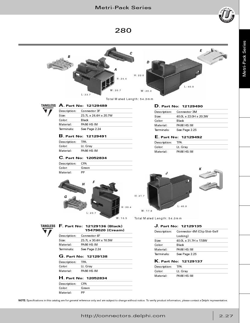 12014254 ,Delphi Connection Systems厂商,Automotive Connectors HAND CRIMPER, 12014254 datasheet预览  第83页