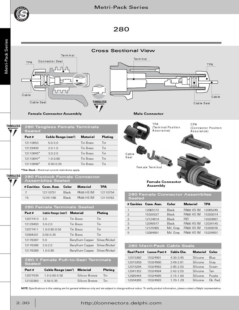 12014254 ,Delphi Connection Systems厂商,Automotive Connectors HAND CRIMPER, 12014254 datasheet预览  第86页