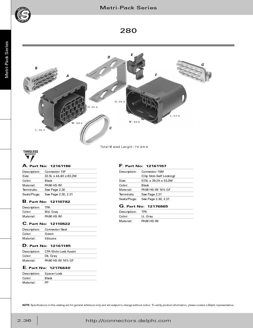12014254 ,Delphi Connection Systems厂商,Automotive Connectors HAND CRIMPER, 12014254 datasheet预览  第92页