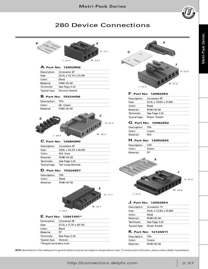 12014254 ,Delphi Connection Systems厂商,Automotive Connectors HAND CRIMPER, 12014254 datasheet预览  第93页