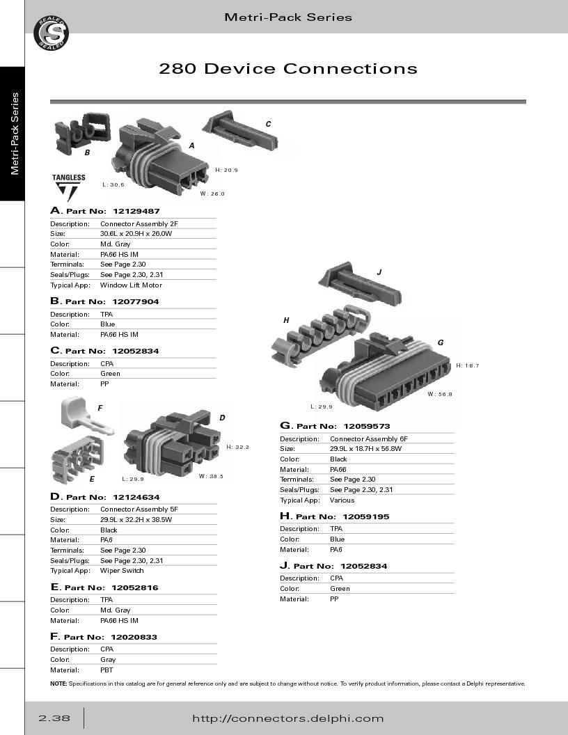 12014254 ,Delphi Connection Systems厂商,Automotive Connectors HAND CRIMPER, 12014254 datasheet预览  第94页