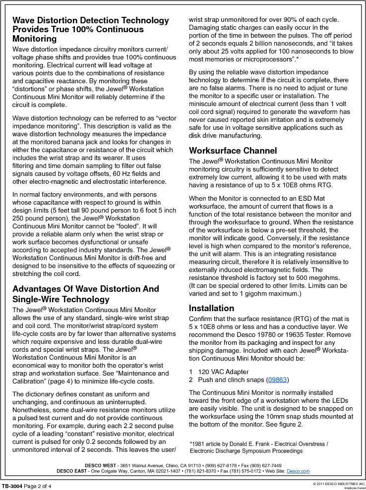 19212 ,Desco厂商,MONITOR WORKSTATION MINI 120V, 19212 datasheet预览  第2页