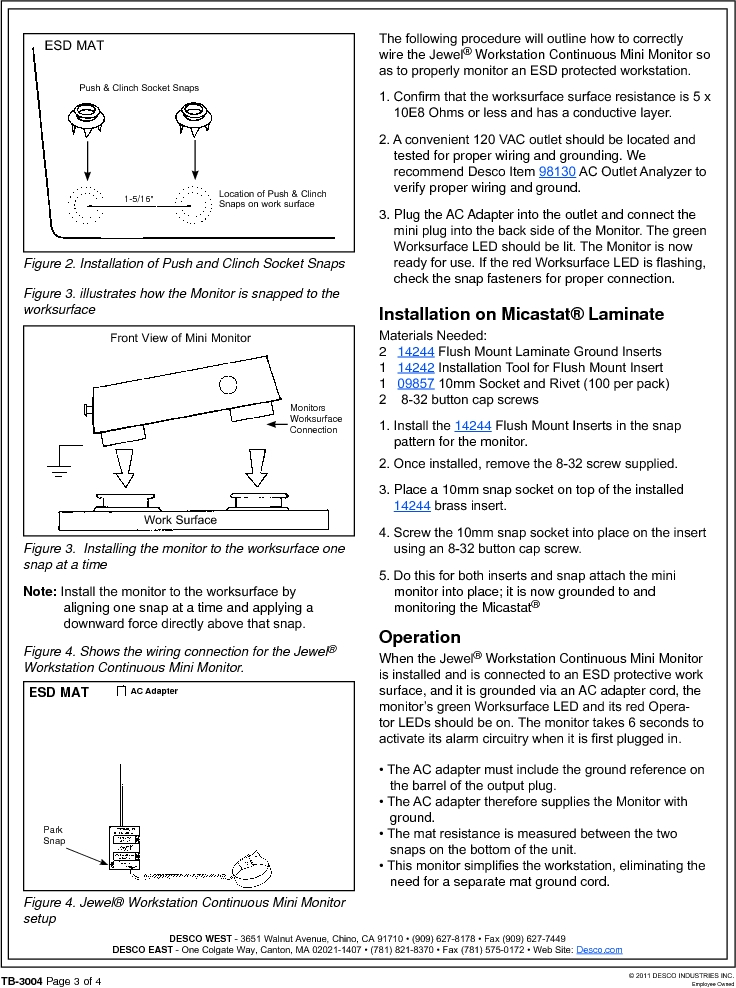 19212 ,Desco厂商,MONITOR WORKSTATION MINI 120V, 19212 datasheet预览  第3页
