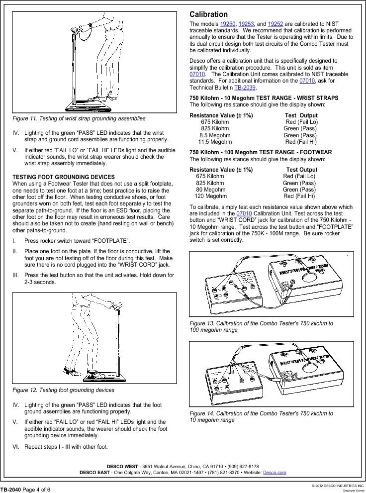 19250 ,Desco厂商,TESTER COMBO WS & FG NIST, 19250 datasheet预览  第4页