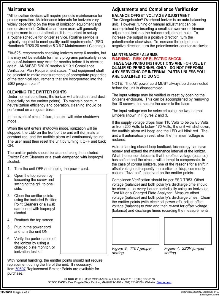 60473 ,Desco厂商,IONIZER O'HEAD 3FAN 120V US PLUG, 60473 datasheet预览  第2页