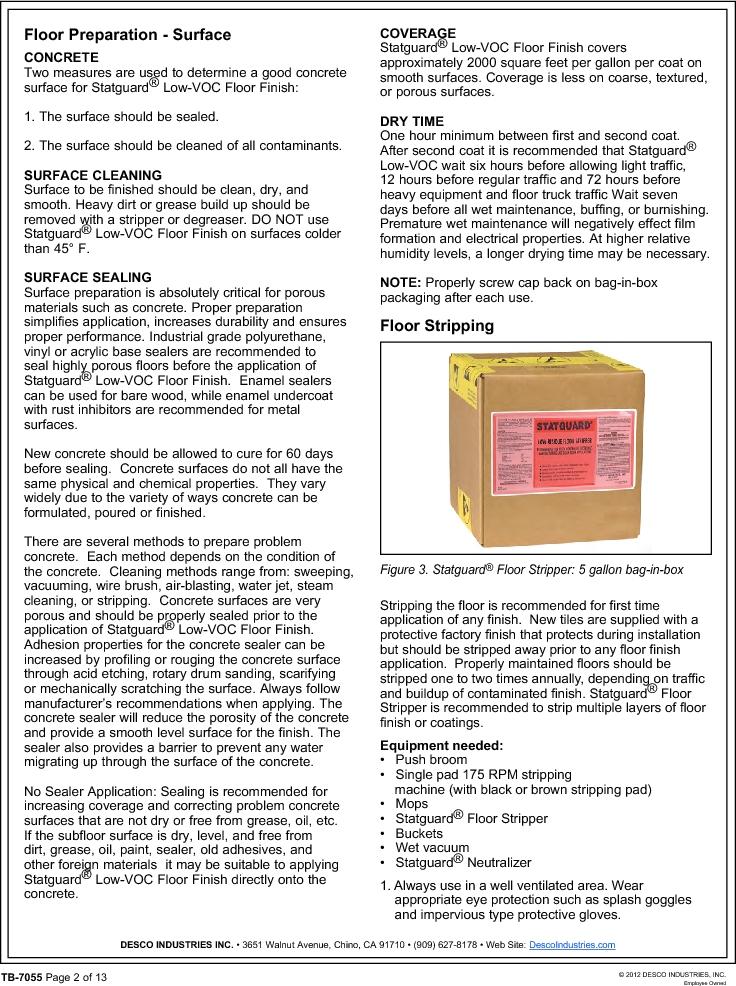 10552 ,Desco厂商,FLOOR FINISH 55 GAL, 10552 datasheet预览  第2页