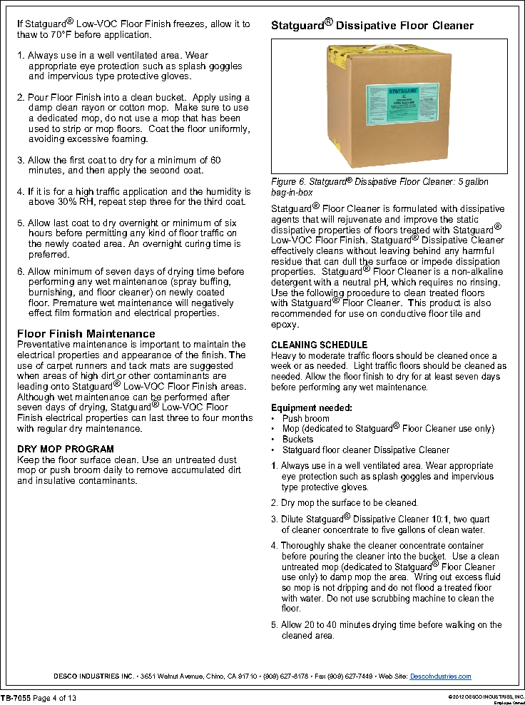 10552 ,Desco厂商,FLOOR FINISH 55 GAL, 10552 datasheet预览  第4页